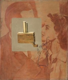 """""""Hockey"""", 1997, olje på lerret, 140 x 120 cm"""