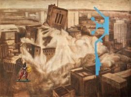 """""""Indian gift"""", 1999, olje på lerret, 150 x 203 cm"""
