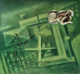 """""""Monitor"""", 1999, olje på lerret, 130 x 137,5 cm"""