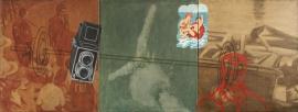 """Odyssey"", 1998, olje på lerret (triptyk), 100 x 270 cm"