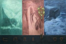 """""""Oscillator"""", 2000/01, olje på fire lerret, 192,5 x 286 cm"""