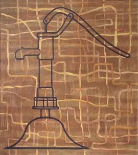 """""""Pressure"""", 1998, olje på lerret, 140 x 120 cm"""