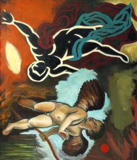 """""""Rendezvous"""", 1993, olje på lerret, 150 x 130 cm"""
