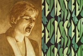 """Silent voice"", 1999, olje på lerret (diptyk), 90 x 132 cm"
