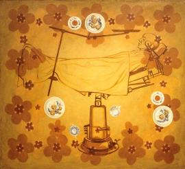 """""""Teatime"""", 1999/01, olje på lerret, 137 x 150 cm"""