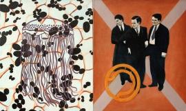 """""""Wavy"""", 1997, olje på lerret (diptyk), 85 x 140 cm"""