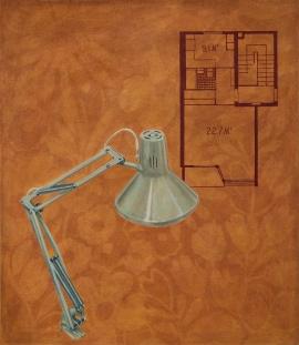 """""""Architectura"""", olje på lerret, 150 x 130 cm, 2010"""