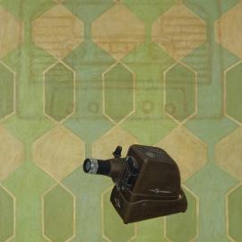 """""""Variasjoner—compactcassette"""", olje på lerret, 120 x 100 cm, 2010"""