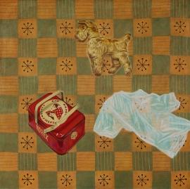"""""""Piknik"""", olje på lerret, 125 x 125 cm, 2017"""