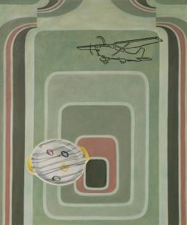 """Variasjoner—cessna"", olje på lerret, 120 x 100 cm, 2010"