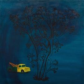 """""""Tidevann"""", olje på lerret, 130 x 130 cm, 2010"""