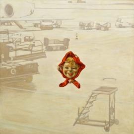 """""""International—zone"""", olje på lerret, 125 x 125 cm, 2001"""