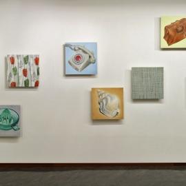 """""""Rekonstruksjoner"""", olje på tre, 8 stk. à 60 x 60 cm, 2009/2010"""